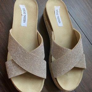 Steve Madden Crystal Espadrille Platform Sandal